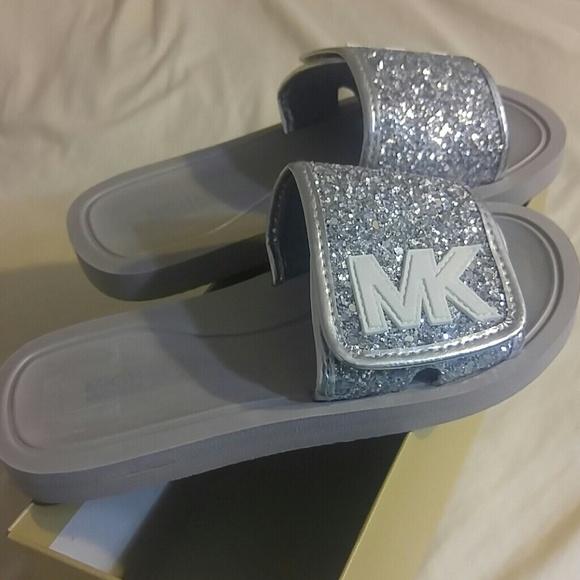 8ab1b65aae16 Michael Kors Eli Glow slide sandal